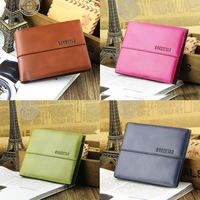 2014 new factory wholesale casual men's short wallet purse multicolor own brand