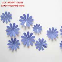 Super Deal! 12 pcs/lot Daisy Flower Wall Stickers Combination DIY Removable PVC 3D Wallpaper For Home Window Decoration