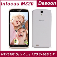 "In stock Original InFocus M320 phone MTK6592 Octa Core 2G RAM 8GB ROM 1.7G 5.5""HD IPS  NFC OTG 3G WCDMA WIFI Bluetooth Dual SIM"
