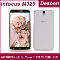 "In stock Original InFocus M320 phone MTK6592 Octa Core 2G RAM 8GB ROM 1.7G 5.5""HD IPS  NFC OTG 3G WCDMA WIFI Bluetooth Dual SIM"