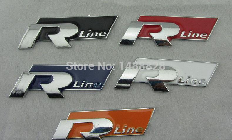 Наклейки NO 3D vw RLINE