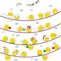 [Saturday Mall] - cute egg face cartoon kids room nursery baby bedroom art decals mural removable children wall sticker 6854