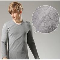 2015 Korean version of the fall and winter plus thick velvet t-shirt V-neck long-sleeved shirt Men's  to keep warm LSH11-22