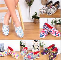 free shipping women canvas shoes  women sneakers fashion loafers flat shoes women casual flats sneakers big size 35-42