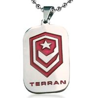 Bahamut titanium steel jewelry The StarCraft Terran military card Pendants Men's Necklace Free shipping
