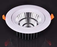 2pcs/lot /SMD 5730/5w/10w/15w/20w Adjustable angle LED Downlight, white color, CE Certified, RoHS Directive-compliant