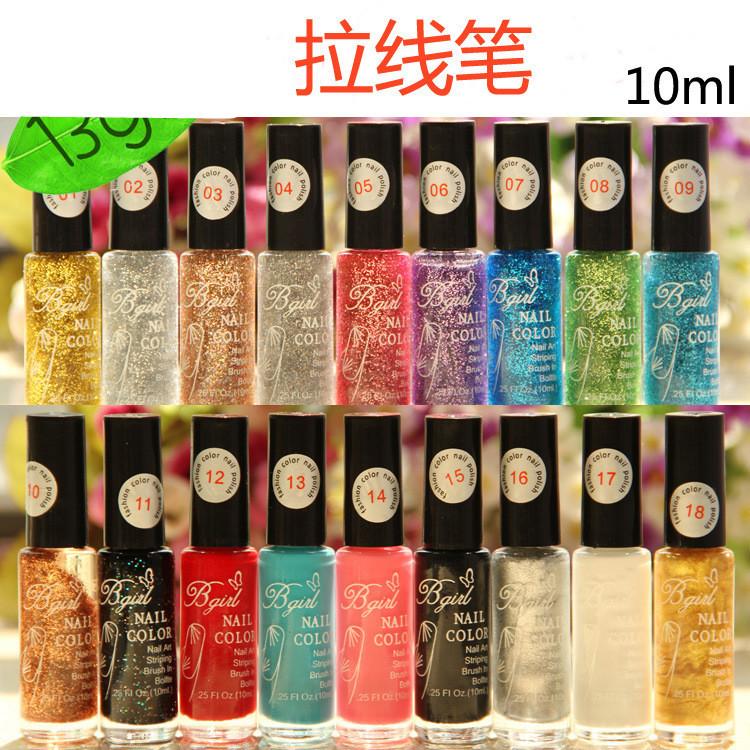 Diy nagel-werkzeuge kunst großhandel 20pcs/lot versandkostenfrei 20 farben nagelbürste malen stift ziehen einen Stift nagellack