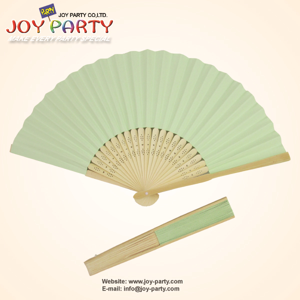 Free Shipping 10 pcs/lot 21cm Mint Green color Paper Hand Fan Wedding Decoration Party Promotion Gifts(China (Mainland))