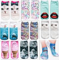 3D Print Animal Socks Casual Cute Women Sock Fashion modelling 20 color Can choose Neutral socks