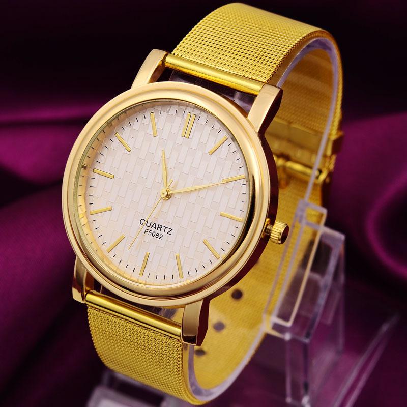 gold 2014 mode lässig quarz damen lässigen hochwertige analoge uhren relogio feminino reloj mujer