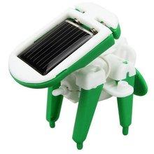 1 PCS Hot sale Children's DIY solar toys Plastic 6 in 1 Educational solar power Kits Novelty Solar robots Child Birthday Gift(China (Mainland))