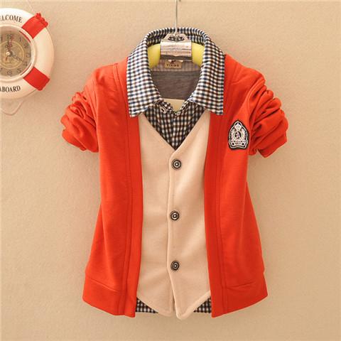 2014 Hitz coreano bambini maglione cardigan in cotone maglia cardigan giacca ragazzo giacca bambino marea