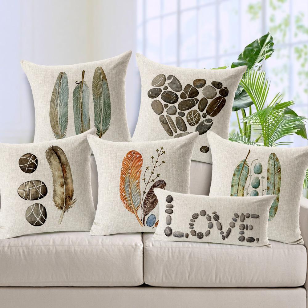 Compra pintado a mano almohadas online al por mayor de - Almohadas en ikea ...