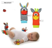 The new zebra fawn A bell socks with paper a bell ringing baby socks
