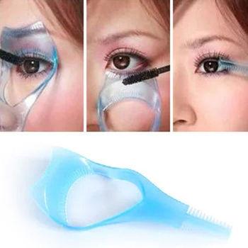 Практическая макияж глаз 3 в 1 тушь для ресниц ресниц аппликатор руководство карты ...