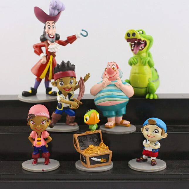 New 7pcs/set Anime Cartoon Jake and The Neverland Pirates PVC Action Figure Toys Free Shipping(China (Mainland))