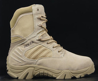 "2014 New 7"" delta tactical army boots Man military Desert Combat shoes , Breathable in Summer sand/black colour size 39-45"