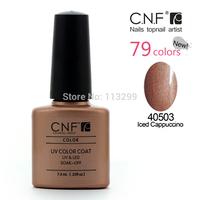 6pcs/lot(4 colors +1 Base +1 Top coat) CNF High quality Soak Off LED UV Gel Polish Nail Art 7.3ml 79Colors Available