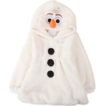 2015 New winter  jacket, Elsa jacket. snow treasure cartoon coat clothes trade OLAF cotton-padded clothes, children's coat(China (Mainland))