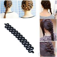 Fashion Hair Braiding Braider Tool Roller With Magic hair Twist Styling Bun Maker Styling Tools DGFS2001