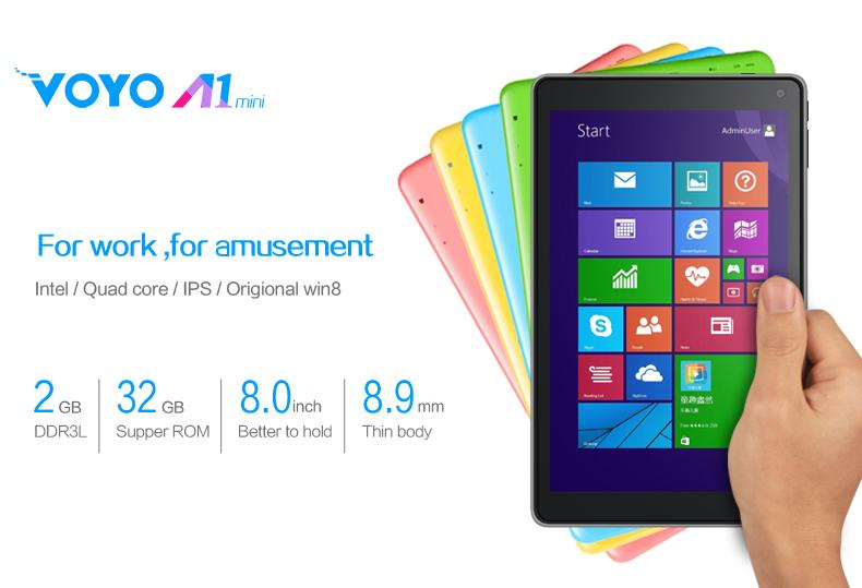 8 inch VOYO A1 MINI Quad-core windows Tablet PC 32GB ROM Dual cameras HDMI Bluetooth WIFI 3g tablet(China (Mainland))