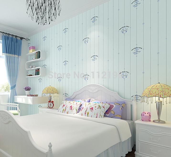 estilo europeu 10m quarto de criança cenário não- tecido papel de parede vinheta listra vertical mediterrâneo casa parede papel(China (Mainland))