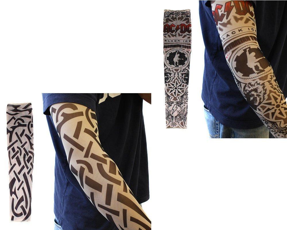10pc tatuagem temporária falso mangas corpo braço arte meias acessórios- projetos tribal, dragão, crânio, e etc.(China (Mainland))