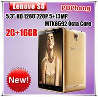 Lenovo S8 S898T+ Phone 5.3 inch 1280*720 MTK6592V Octa Core 2GB RAM 16GB ROM Android 13.0MP