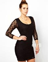 Lace 6XL Plus Size Party Dresses 2014 Large Size Sexy Dress Full Figure Female Sheath Clothing 5XL Big Size Lady Clothes 4XL