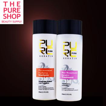 keratin shampoo and keratin hair treatment 100ml x 2 set hot sale use at home make hair smoothing and shine free shipping