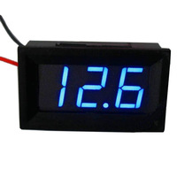Mini Blue LED Voltmeter Gauge Volt Voltage Panel Meter DC 3.5V~30 V For 9V 12V 24V