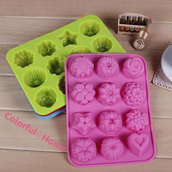 1Pcs 20*16cm 90g High Quality DIY Kitchen Muffin Cake Bakeware Silica Gel Baking Mould Chocolate Egg Tart Mold