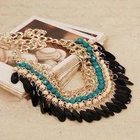 New Fashion Charm Jewelry Pendant Chain Crystal Choker Chunky Statement Bib Necklace