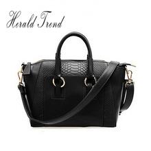 2014 New Fashion leather bag casual leopard print bags one shoulder handbag women's handbag leather messenger bag(China (Mainland))