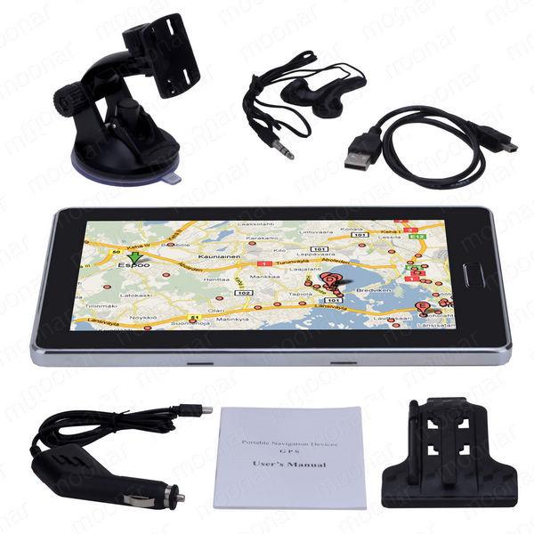 New High Quality 7 inch GPS Car Navigation 4GB Capacity UK EU AU NZ Maps Speedcam POI with Sunshade JL*DA0553#C9(China (Mainland))