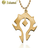 Bahamut Titanium steel jewelry  The World of Warcraft Horde Pendant Men's Necklace Free shipping