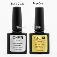 4pcs/lot CNF uv Gel Polish Base + Top Coat .25oz/7.3ml free shipping