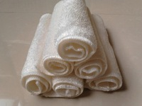 23x18cm White Color High Efficient Anti Greasy Bamboo Fiber Hand Washing Dish Cleaning Cloth and Wipping Rag Dishcloth