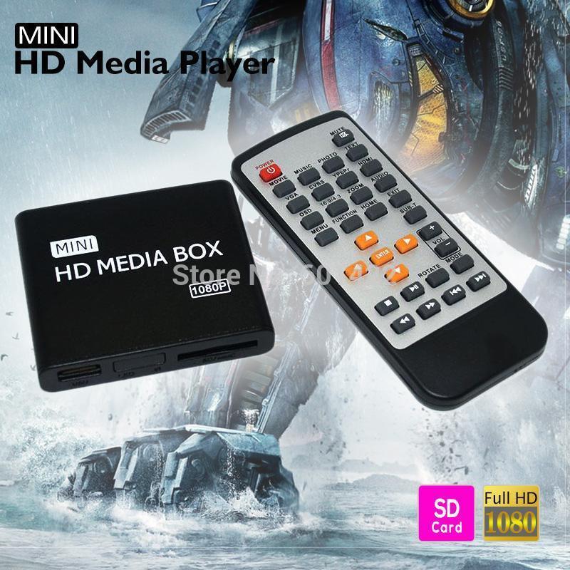Multimedia Mini Full HD Media Player 1080P HD TV BOX Support HDMI MKV RM SD USB SDHC MMC HDD-HDMI With Remote Control(China (Mainland))