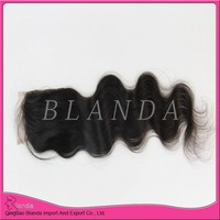 6A Virgin Brazilian Body Wave Lace Closure Bleached Knots Remy Hair Closure Pieces Free middle 3 Part Closures Free Shipping