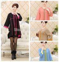 100% Mink Cashmere Sweater Cardigans Coat Women Female Winter Long Sweater Knitted Coat Super Soft Warm M L XL