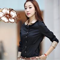 Women Shirts Blouses New 2015 Spring Blouse Fashion Femininas Long Sleeve Cotton Casual Shirts Women's Income Plus Size XXXL