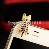 Fashion Cute Cartoon Animals Mobile Phone Accessories Dust Plug Headphone Plug Cell Phone Anti Dust Cap For iPhone/Samsung/HTC