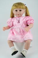 Fashion Baby dolls girl toys adorable Toddler Dolls christmas gift 20 inch girls hoobies Blond hair