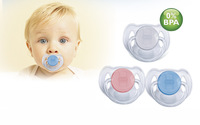 Free Shipping Avent Pacifier BPA-Free Avent Translucent Soother Avent Orthodontic Dummy Nipple - 6-18 month