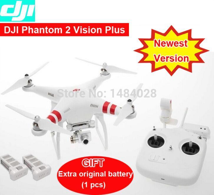 DJI Phantom 2 Vision plus with original Battery GPS Drone RC Quadcopter 5.8G Radio FPV Camera 3 aix gimbal via EMS 2015(China (Mainland))