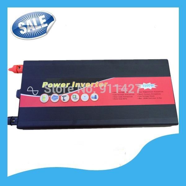 1500W DC 24V AC 110V 220V 230V 240V Pure Sine Wave Power Inverter USB Free Shipping, Remote Control(China (Mainland))