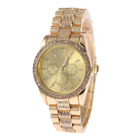 2015 New Design Stainless Steel Precision Quartz Watch Women'S Fashion Leisure Clothing Collocation Watches