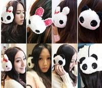 1 piece panda Rabbit bow dots cotton Earmuffs Ear Muffs Ear Warmers Winter Outdoor headwear headset Women Christmas Gifts