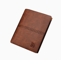 2014 New Personality Men Wallet Brand Portfolios 3 Style Cowhide Leather + PU  Mens Korean Retro Walet Purse Carteiras Mujer